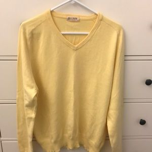 J.Crew men's size large yellow V-neck sweater